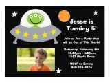 "Alien Birthday Invitations Alien Birthday Party Invitation 5"" X 7"" Invitation Card"