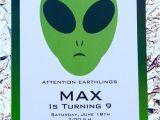 Alien Birthday Invitations Items Similar to Alien Birthday Party Invitation Alien