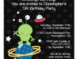 Alien Birthday Invitations Outerspace Alien Boy S Birthday Party Invitation