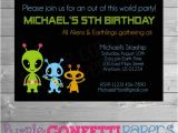 Alien Birthday Party Invitations Alien Birthday Invitation Alien Party Out Of This World