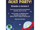 Alien Birthday Party Invitations Alien Party Invitation for Kids Birthday Parties Zazzle