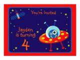 Alien Birthday Party Invitations Alien Spaceship Birthday Party Invitation Zazzle