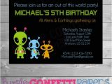 Alien Party Invitations Alien Birthday Invitation Alien Party Out Of This World