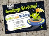 Alien Party Invitations Alien Birthday Party Invitations Space Alien Outer Space