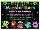 Alien Party Invitations Alien Monster Party Invitations