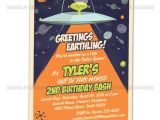 Alien Party Invitations Space Alien Spaceship Invitation Outerspace Party I Will