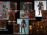 Alien Vs Predator Birthday Invitations Predator 2 Hot toys Lost Predator 16 Scale Movie