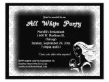 All White Party Invitation Wording All White attire theme Party Invitation 4 25 Quot X 5 5