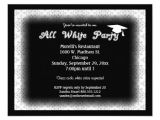 All White Party Invitation Wording All White attire theme Party Invitation From Zazzlecom