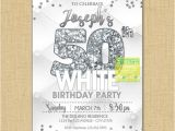 All White Party Invitation Wording All White Party Invitation Milestone Birthday Invitation