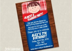 Almost Sleepover Party Invitations Boys Almost A Slumber Party Birthday by Littlecelebrations