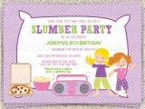 Almost Sleepover Party Invitations Dance Slumber Party Girl 39 S Sleepover Invitation