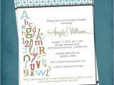 Alphabet Baby Shower Invitations 10 Best Alphabet Bridal Shower Images On Pinterest