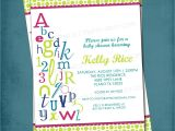 Alphabet Baby Shower Invitations Alphabet Baby Shower Invitations