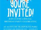 Altitude Trampoline Park Birthday Invitations Birthday Parties Altitude Trampoline Park Delmar