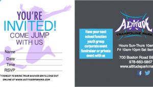 Altitude Trampoline Park Birthday Invitations Trampoline Birthday Parties at Altitude Altitude