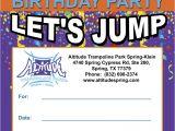 Altitude Trampoline Park Birthday Party Invitations Jumper Birthday Party Invitation Images Invitation