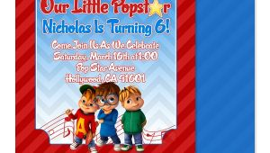 Alvin and the Chipmunks Birthday Invitation Template Eccentric Designs by Latisha Horton Alvin and the