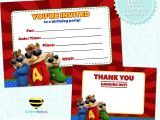 Alvin and the Chipmunks Birthday Invitation Template Free