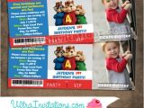 Alvin and the Chipmunks Birthday Invitations Alvin & Chipmunk Ticket Invitations Brittany Miller