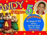Alvin and the Chipmunks Birthday Invitations Alvin and the Chipmunks Birthday Party Invitations
