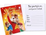 Alvin and the Chipmunks Birthday Invitations Alvin and the Chipmunks Party Invitations Invitation