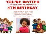 Alvin and the Chipmunks Birthday Invitations Alvin and the Chipmunks the Chipettes Custom Birthday Inv