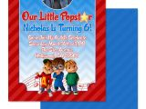 Alvin and the Chipmunks Birthday Invitations Eccentric Designs by Latisha Horton Alvin and the