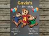 Alvin and the Chipmunks Birthday Invitations This Listing is for A Personalized Birthday Invitation
