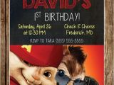 Alvin and the Chipmunks Birthday Party Invitations Alvin & the Chipmunks Birthday Invitation by