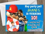 Alvin and the Chipmunks Birthday Party Invitations Birthday Invitation Templates Alvin and the Chipmunks