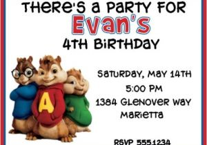 Alvin And The Chipmunks Birthday Party Invitations