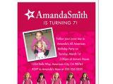 American Girl Doll Birthday Party Invitations 8 American Girl Doll Birthday Party Personalized