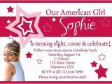 American Girl Doll Birthday Party Invitations American Girl Doll Birthday Party Invitations