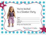 American Girl Doll Birthday Party Invitations American Girl Party Invitations American Girl Ideas