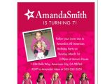 American Girl Doll Party Invitations 8 American Girl Doll Birthday Party Personalized