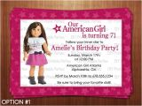 American Girl Doll Party Invitations American Girl Doll Birthday Party Invitations