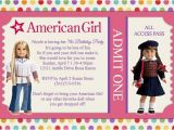 American Girl Doll Party Invitations American Girl Dolls Birthday Party Invitations Drevio