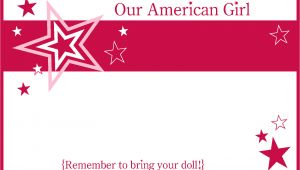 American Girl Party Invitation Template Free American Girl Party Invitation Template