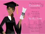 American Greetings Graduation Invitations Grad Girl African American Graduation Invitations by