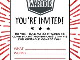 American Ninja Warrior Birthday Invitation Template American Ninja Warrior Birthday Party Wit Wandermn