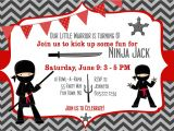 American Ninja Warrior Birthday Invitation Template Ninja Warrior Birthday Party Invitation by
