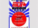 American Ninja Warrior Birthday Invitation Template Ninja Warrior Invitations Ninja Warrior Party Ninja