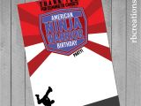 American Ninja Warrior Birthday Invitation Template Ninja Warrior Party Ninja Warrior Thank You Anw Birthday