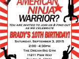 American Ninja Warrior Birthday Invitations American Ninja Warrior Birthday Invitation