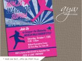 American Ninja Warrior Birthday Invitations American Ninja Warrior Inspired Birthday Invitation Any