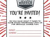 American Ninja Warrior Birthday Invitations Free American Ninja Warrior Birthday Party Our Handcrafted Life