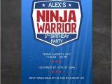American Ninja Warrior Birthday Invitations Free American Ninja Warrior Inspired Birthday Party Invitation