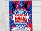American Ninja Warrior Birthday Invitations Free American Ninja Warrior Invitation Anw Birthday Invitations Boy