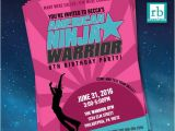American Ninja Warrior Birthday Invitations Girl American Ninja Warrior Invitations American Ninja